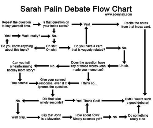 Palin Debate Flow-Chart